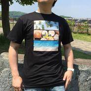【ハワイ直入】ワウワウレモネード オリジナルTシャツ (トロピカルブラック柄)