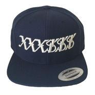 XXX$$$ Snapback (Navy & Creme White)