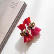 thread pierce / earrings FUCHSIA PINK