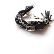 wood metal bracelet BLACK MIX