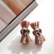 thread pierce / earrings BABY PINK