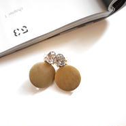 circle bijou  pierce/earrings GOLD