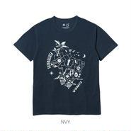 LUZ e SOMBRA B-MAP PATTERN T-SHIRT【NVY】