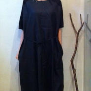 different material one-piece dress