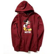 YOSHIDAROBERTO™DISNEY COLLECTIONモーターミッキーマウスフード付スウェットシャツ(ワイン)