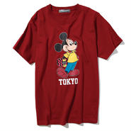 YOSHIDAROBERTO™DISNEY COLLECTIONスケボーミッキーマウスTシャツ(ワイン)