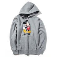 YOSHIDAROBERTO™DISNEY COLLECTIONモーターミッキーマウスフード付スウェットシャツ(グレー)