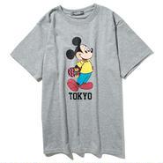 YOSHIDAROBERTO™DISNEY COLLECTIONスケボーミッキーマウスTシャツ(グレー)