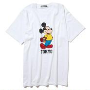 YOSHIDAROBERTO™DISNEY COLLECTIONスケボーミッキーマウスTシャツ(ホワイト)