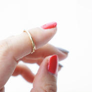 K14gf Pinkey ring #3 1/2