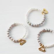 bi-color pearl ring