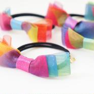 rainbow flower ヘアゴム