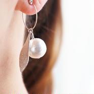 SV ダイヤモンドダスト leaf earring