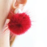 minkfurball earring red