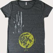月基地からロケットTシャツ  レディース