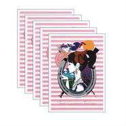 クリアファイル カレンダー表紙<ピンク>5枚セット
