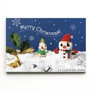 【NP063】nanoblock®クリスマスカード 〜雪だるま〜