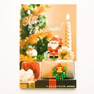 【NP019】nanoblock®クリスマスカード 〜サンタクロース〜