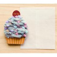 【ZA105】くるくるカップケーキカード