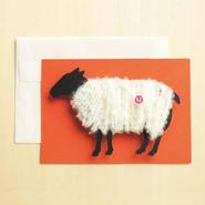 【ZA003】羊の毛刈りメッセージカード