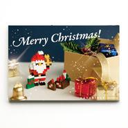 【NP070】nanoblock®クリスマスカード 〜サンタ&ブッシュドノエル〜