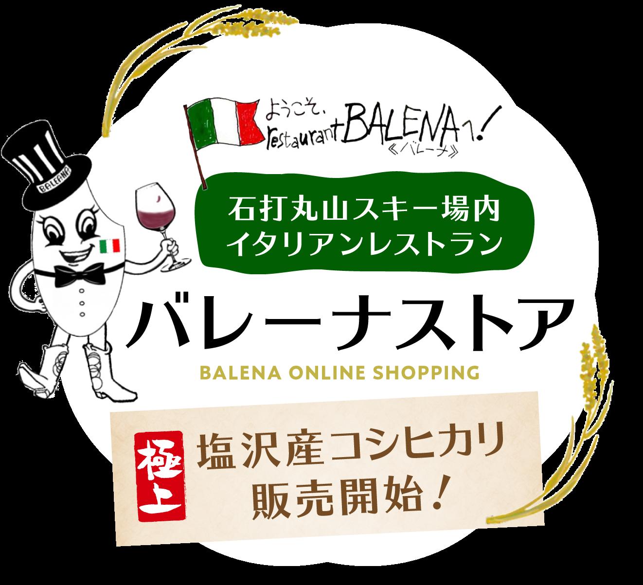 南魚沼塩沢産コシヒカリ『バレーナストア』|石打丸山スキー場レストランオーナーのお店
