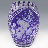 クリスタル花瓶(マイセン)/ a2830