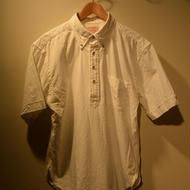 "boncora 半袖プルオーバーBDシャツ ""ホワイト"""