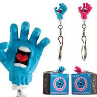 SANTA CRUZ x  KIDROBOT SCREAMING HAND  ZIPPER PULL