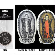 HARD LUCK  OG LOGO  LADY GUADALUPE  AIR FRESHENER