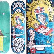 KROOKED MARK GONZALES SKATE MOM DECK  (8.38 x 32.45inch)