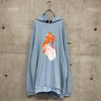 painted  BiG pullover foodie /Blue 01