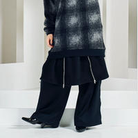 4zip wool skirt