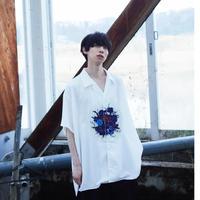 Anemone open collar print shirt
