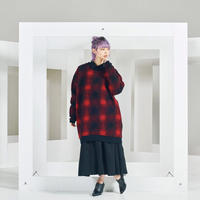 Fleur checked knit pullover / 2color
