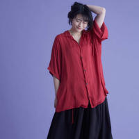 night down open collar stripe shirts / 4color