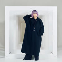 Black melton heavy over coat