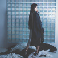 Ray long dress shirts / BLACK