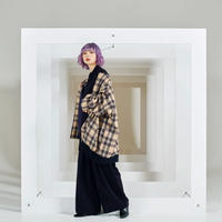 Zoe checked blouson / 2color