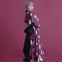 華札の浴衣ワンピース / 紫式部