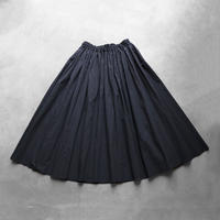 コードレーンロングスカート(黒ストライプ)【レディス】