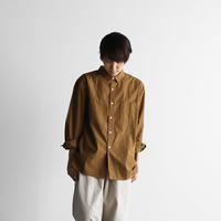 オーガニックコットンビッグシャツ(キャラメルブラウン)【ユニセックス】011