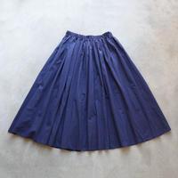 ゆるふわコットンスカート(オリエンタルブルー)【レディス】