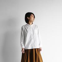 コットンリネンブラウス(白)【レディス】  U109