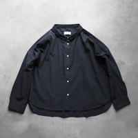コードレーンワイドブラウス・黒ストライプ【レディス】