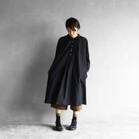 綿ウールタイプライタークロスワンピース(クロ)【レディス】