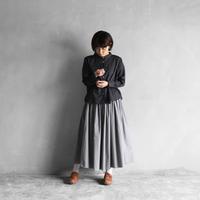 オーガニックコットンロングスカート(ライトグレー)【レディス】