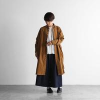みじんコール(シャトルコーデュロイ)ロングシャツ(キャメル)【ユニセックス】017
