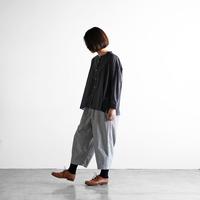綿麻(コットンリネン)バフクロスバルーンパンツ(グレー)【ユニセックス】506