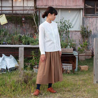 やわらかコットンバンドカラーシャツ【ユニセックス】